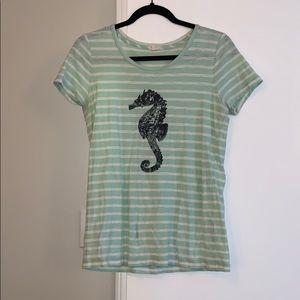 Aqua J.Crew t-shirt